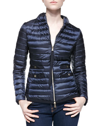 Lochet Quilted Puffer Jacket, Navy