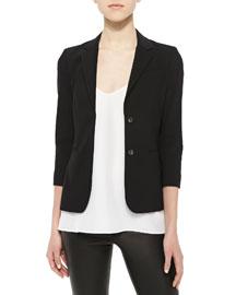 Exclusive School Boy 2 Button Jacket, Black