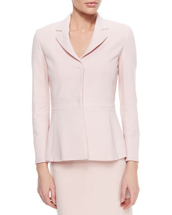 Stretch-Wool Snap-Front Jacket