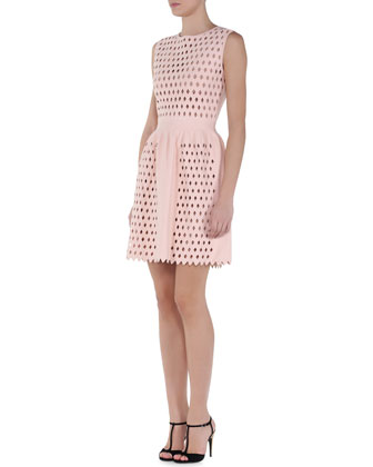 Cutout-Panel A-Line Dress