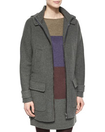 Farley Woven Wool Mid-Length Coat