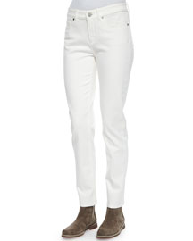 Hidalgo Denim Ankle Jeans, White