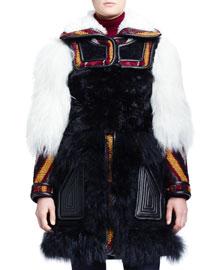 Persian Tapestry Shearling Fur Coat