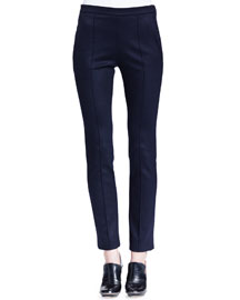 Skinny Jersey Ankle Pants, Navy