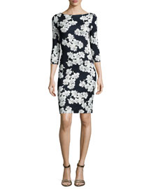 Reece Floral-Print Sheath Dress