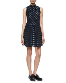 Calvine Iridescent Checked Dress