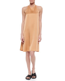 Berthford Satin Shift Dress