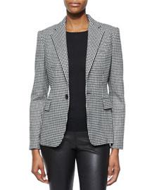 Leander Cashmere-Blend Houndstooth Jacket
