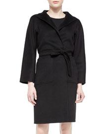 Lilia Double-Faced Cashmere Felt Blanket Coat