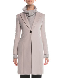 Cashmere Double-Faced Tailored Coat