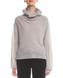 Cashmere-Blend Boucle Pullover