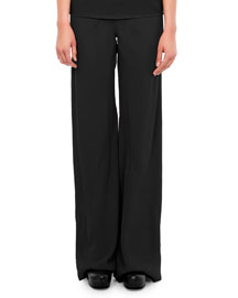 Classic Wide-Leg Combo Pants, Black