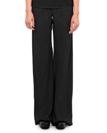 Classic Wide-Leg Combo Pants, Black