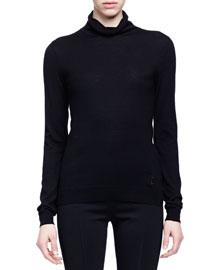 Cashmere-Silk Turtleneck Sweater
