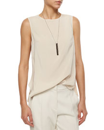 Layered-Back Silk Tank