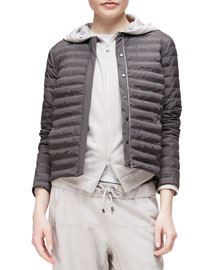 Quilted Tech Snap-Front Jacket