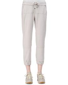 Cashmere Drawstring Jogger Pants