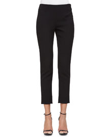 Catherine Crepe Slim Ankle Pants