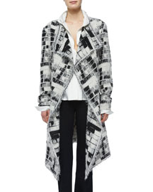 Skylights Jacquard Fringe Topper Coat