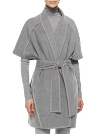 Double-Faced Cashmere Belted Coat