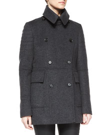 Fayer Cashmere-Blend Double-Breasted Coat