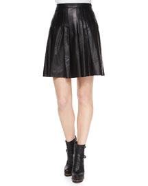 Luxton Pleated Napa Skirt