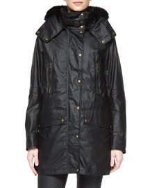 Master Luxe Fur-Trimmed Hooded Coat