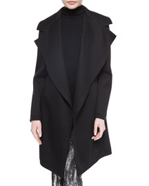 Sculpted Jersey Belted Coat