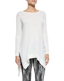 Cashmere Slub-Knit Handkerchief Tunic
