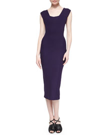 Fluid Crepe Sheath Dress