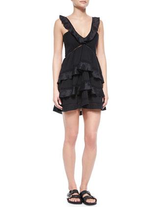 Casey Ruffle Tiered Mini Dress