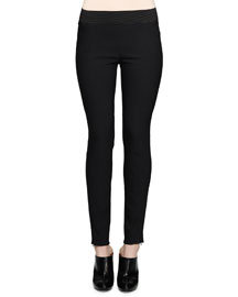 Zip-Cuff Jersey Leggings
