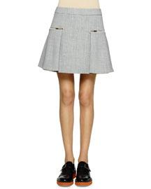 Double-Faced Gabardine Mini Skirt