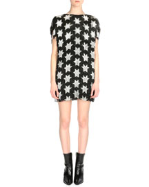 Star-Pattern Allover Fringe Dress