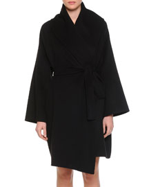 Double-Faced Cashmere Blanket Coat