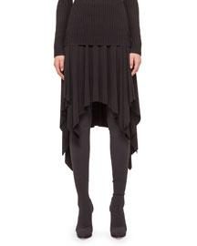 Ruffled A-Line Handkerchief Skirt