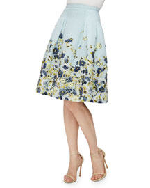 Flower Fil Coupe Party Skirt