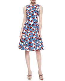 Lady Bug-Print Day Dress