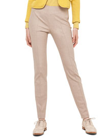 Melissa Stretch Flannel Pleated Slim Pants