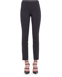 Melissa Slim-Fit Wool Pants