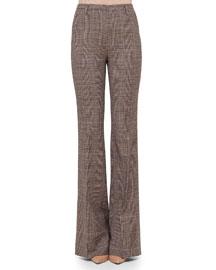 Farrah Glen Plaid Flare Pants