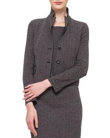 Cashmere-Blend Herringbone Jacket