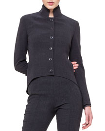Double-Faced Arched-Hem Jacket