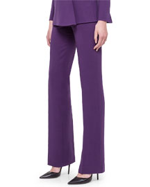 Double-Faced Side-Zip Pants