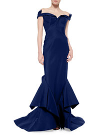 Off-The-Shoulder Bow-Detailed Gown