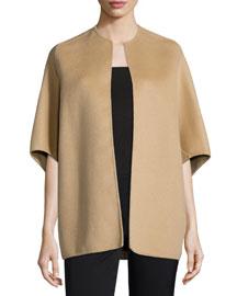 Woven Half-Sleeve Coat