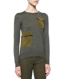 Radley Flap-Pocket Knit Sweater