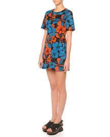 Bonded Jersey Pimpernel Blossom Dress