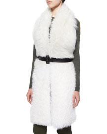 Constable Sleeveless Shearling Fur Jacket