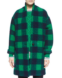 Gabrie Oversize Check Coat